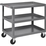 "3 Shelf Steel Stock Cart, 800 Lb. Capacity, 36""L x 24""W x 36""H"