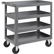 "4 Shelf Steel Stock Cart, 800 Lb. Capacity, 30""L x 18""W x 36""H"