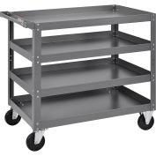 "4 Shelf Steel Stock Cart, 800 Lb. Capacity, 36""L x 24""W x 36""H"