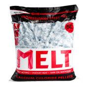 Snow Joe MELT50CCP MELT 50 Lb. Bag Calcium Chloride Pellets Ice Melter, Resealable Bag