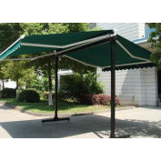 Awntech Retractable Awning Free Standing Manual 10'W x 16'D x 8'H Forest Green