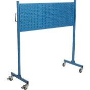 "Mobile Steel Louver Panel Rack, Blue, 60""W"