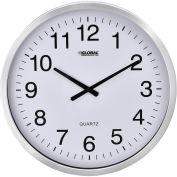 """20"""" Wall Clock, Aluminum Frame"""