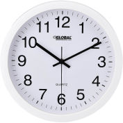 "12"" Wall Clock, Plastic, White"