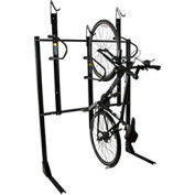 "3-Bike Vertical Bike Rack, Non-Locking, 54""W x 45""D"