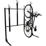 "4-Bike Vertical Bike Rack, Non-Locking, 72""W x 45""D"