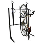 "3-Bike Vertical Bike Rack, Locking, 54""W x 45""D"