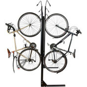 "8-Bike Vertical Bike Rack, Double Sided, Non-Locking, 72""W x 90""D"