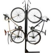"""8-Bike Vertical Bike Rack, Double Sided, Non-Locking, 72""""W x 90""""D"""