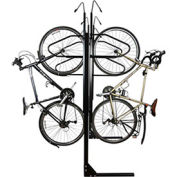 "6-Bike Vertical Bike Rack, Double Sided, Locking, 72""W x 90""D"
