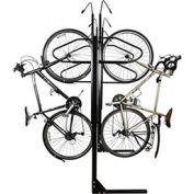 """8-Bike Vertical Bike Rack, Double Sided, Locking, 72""""W x 90""""D"""