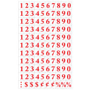 MasterVision Magnetic Numbers, Red on White