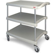 "Metro myCart™ 3-Shelf Utility Cart with Chrome-Plated Posts, Green, 28x23"" Shelves"