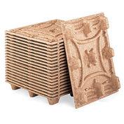Nestable Presswood Pallets, Export Size, 600Mm W X 800Mm L X 135Mm H 20Klb. Cap. On Floor - Pkg Qty 5