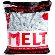 Snow Joe MELT50CCP-PLT MELT 50 Lb. Bag Calcium Chloride Pellets Ice Melter, Resealable Bag 49/Pallet