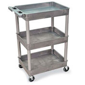 "Luxor Tray-Shelf Carts - 24""W x 18""D Shelf, 41-1/2""H - Gray"