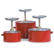 "Eagle P-701 Steel Plunger Cans, 1-Quart Capacity, 6-1/4"" Dia.X8""H"