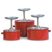"Eagle P-704 Steel Plunger Cans, 4-Quart Capacity, 8"" Dia.X10-3/4""H"