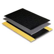 "Soft Step Mat, 24X36"", Black/Yellow"