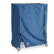 "Polyester Truck Covers, Blue, Fits 48""Wx24""Dx74""H Shelf Trucks"