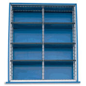 Extra Drawer Dividers For Premium Bench Truck Divider Kits, 8 Compartments