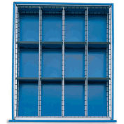 Extra Drawer Dividers For Premium Bench Truck Divider Kits, 12 Compartments