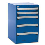 """Five-Drawer Pedestal For Modular Mobile Cabinets - 3"""",6"""" Front Drawer Heights"""