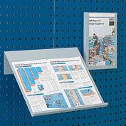 "Toolboard Shelf For Perfo Panels, Vertical Document Holder, 9""Wx12""D (Letter Size)"