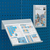 """Toolboard Shelf For Perfo Panels, Angled Document Holder, 18""""Wx14""""D (Double Letter Size)"""