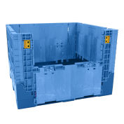 "Heavy-Duty Collapsible Bulk Containers, 48""Wx45""Lx34""H, Blue"