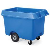 Techstar Next Generation Starcarts Bulk Truck, Polyethylene, 31-1/2Wx60Dx35-1/2H, Blue