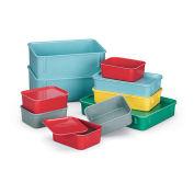 LewisBins Lid For Fiberglass Nesting Box, Light Blue, Fits Box 52564, 52565 - Pkg Qty 48
