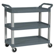 "Rubbermaid Xtra™ Carts, 40-3/4""W x 20""D Shelf, Aluminum Uprights, Gray"