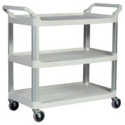 "Rubbermaid Xtra™ Carts, 40-3/4""W x 20""D Shelf, Aluminum Uprights, Off-White"