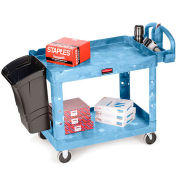 "Rubbermaid Premium Universal Shelf Carts, Blue, 30""Wx16""D Shelf, 38-1/8""H"