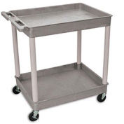 "Luxor Tray-Shelf Carts - 32""W x 24""D Shelf, 38-1/2""H - Gray"