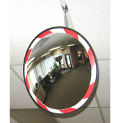 "Convex Safety Mirror - High-Visibility Acrylic - 26"" Dia. - Outdoor"