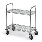 "Metro Stainless Steel Wire Utility Carts, 36""W x 24""D x 39""H"