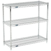 (3) Shelf Media Stand, Chrome, 72 x 14