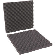 "16""x16""x2"" Charcoal Convoluted Foam Sets, 12 Pack"