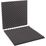 "24""x24""x2"" Charcoal Convoluted Foam Sets, 6 Pack"