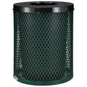 Thermoplastic Coated Mesh Receptacle w/Flat Lid, 32 Gallon, Green
