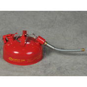 "Eagle U2-11-S Type II Safety Can with 7/8"" O.D. Flex Spout, 1 Gallon, Red"