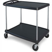 Metro myCart 2-Shelf Utility Cart with Chrome-Plated Posts, 40-1/4 x 27-11/16, MY2636-25BL