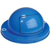 Dome Top Lid, Steel, Blue