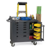 "Durham Mfg Co Facility Maintenance Cart, 52-3/4""L x 19""W x 40-1/4""H"