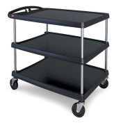 Intermetro MY2636-35BL 3 Shelf Cart, 40-1/4 x 27-11/16, Black