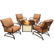5-Piece Conversation Set w/ Cast-Top Fire Pit, Desert Sunset