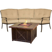 2-Piece Chat Set w/ Durastone Fire Pit, Natural Oat