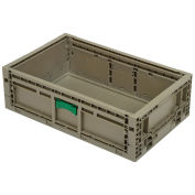 "Monoflo KD2415-07 Folding Transport Container, 23-15/16""L x 15""W x 7-7/16""H, Gray"